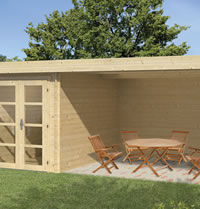 Mega Modern Log Cabin 5.75 x 3m