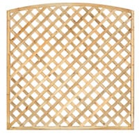 Arched Framed Diagonal Trellis 180