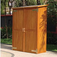 Hardwood Garden Storage Cabinet - Montevideo