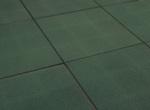 Outdoor Rubber Play Tile - Green