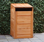 Hardwood Single Wheelie Bin Store