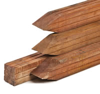 Hardwood Planed Fence Posts