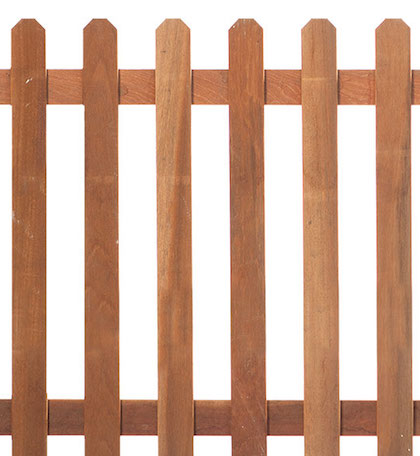Straight Hardwood Picket Fence