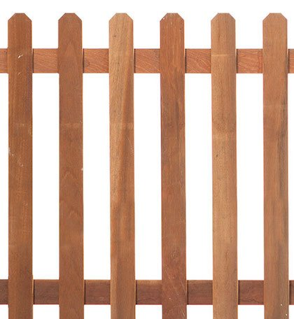 Straight Hardwood Picket Fence RUMMAGE