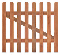Hardwood Picket Gate