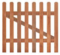 Hardwood Picket Gate