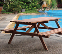 Hardwood Economy Picnic Table- Rummage