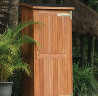 Hardwood Garden Storage Cabinet - Santiago
