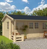 Henning Log Cabin 5.95 x 5.40m