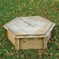 Hexagonal Sandpit with Wooden Lid