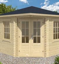 Ingrid Corner Log Cabin 3x3m