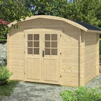 Klair Curved Roof Log Cabin