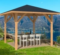 Kos Larch Gazebo 3.4x3.4m