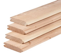 Larch Timber Tongue and Groove Cladding