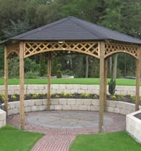Large Hexagonal Gazebo 4m Diameter