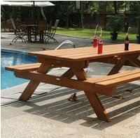 Large Picnic Table Bench