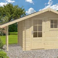 Lars Log Cabin 3x2.6m with Log Store