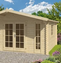 Laula Log Cabin 4.3x4.3m Double Glazed