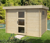 Lianne Modern Log Cabin 3x2m