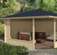 Marit Log Cabin Gazebo 4.0 x 4.0m
