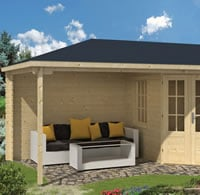 Markku Corner Log Cabin 5.75 x 3m