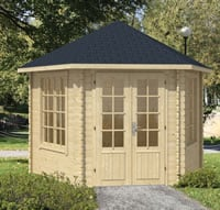 Nora Hexagonal Log Cabin 3.63x3.12m