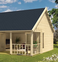 Olaug Log Cabin 5.50 x 5.98m - Double Glazed