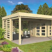 Oletha Gazebo Log Cabin 7.85 x 5.10m - Double Glazed
