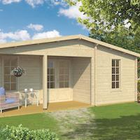 Ollie 70mm Log Cabin 7.31 x 4.98m