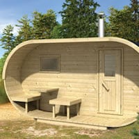 Log Cabin Oval Sauna
