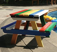 Hardwood Junior Picnic Table