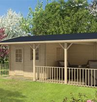 Ragna Log Cabin Gazebo 7.20m x 4.20m