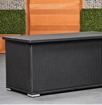 Rattan Outdoor Cushion Box Black