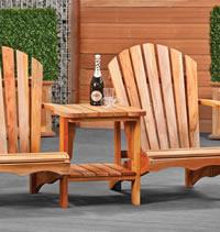 Relax Hardwood Love Seat
