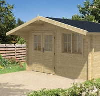 Rorik Log Cabin 4 x 3m in 58mm logs - Double Glazed