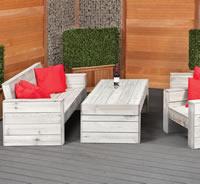 Rustic Garden Lounge Set Furniture