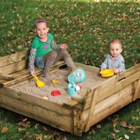 Sandpit with Bench Lid