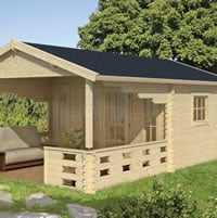Sanstrov Log Cabin 3.8x5.9m Double Glazed