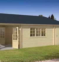 Sibella Log Cabin with Gazebo 8.50 x 4.20m - Double Glazed