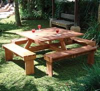 Square Hardwood Picnic table