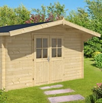 Summertime Log Cabin 4.0x3.0m in 34mm logs