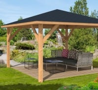 Syros Larch Gazebo 4.3x4.3m