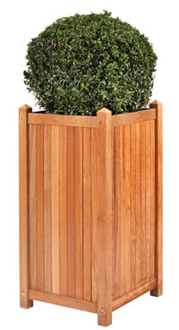 Tall Hardwood Planter