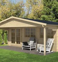 Torsten Log Cabin 5.95 x 4m