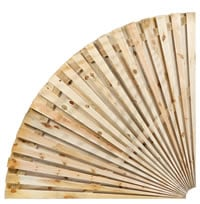 Quarter Circle Fence Fan Two Sided