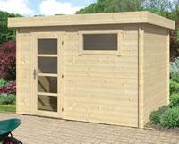 Ultramodern Flat Roof Log Cabin 3.2x2.6m