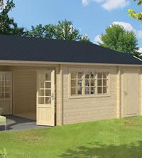 Viveka Log Cabin with Gazebo 7.50 x 4.20m - Double Glazed