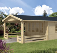 Watford Log Cabin 5.4 x 5.4m 3m Veranda