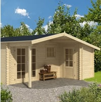 Wolfgang Log Cabin 5.3x3.0m-4.5m Double Glazed