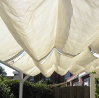 Sliding Garden Shade Awning 3m x 5m